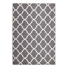 Teppich Mesh - Kunstfaser - Grau / Beige - 140 x 200 cm