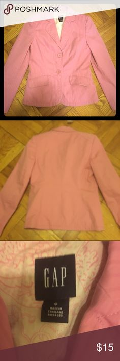 Gap Pink Blazer size Small Note: small marks as shown in last photo GAP Jackets & Coats Blazers