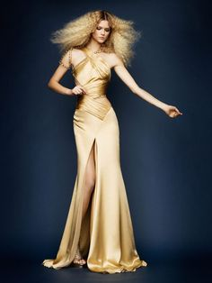Atelier Versace Spring 2010 -- I just love the Goddess that is this woman, Kasia Struss.