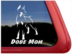 Doberman Pinscher Mom | DC615MOM | High Quality Adhesive Vinyl Window Decal Sticker by NickerStickers on Etsy https://www.etsy.com/listing/175908002/doberman-pinscher-mom-dc615mom-high