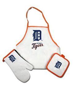 Detroit Tiger BBQ apron set