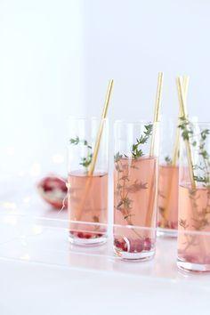 Pomegranate Fizz Cocktail