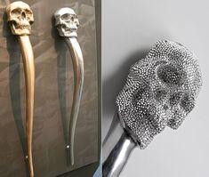 Skull Door Handle by Philip Watts