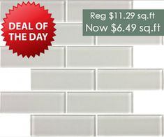 2x6 Glass Subway Series - Light Gray Special Price $6.49 sq.ft