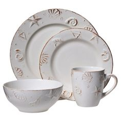 Dinnerware Set Blue | Dinnerware Cod and Cape  sc 1 st  Pinterest & Cape Cod 16-pc. Dinnerware Set Blue | Dinnerware Cod and Cape