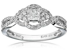10k White Gold Diamond Ring (1/2 cttw, H-I Color, I2-I3 Clarity), Size 7 Amazon Collection http://www.amazon.com/dp/B00777E7SA/ref=cm_sw_r_pi_dp_Itg.vb09WA8VJ