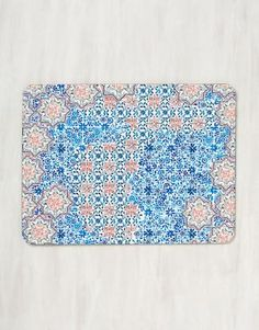 William Blue Rectangle Placemats Are Hardboard Cork