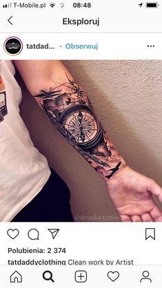 Unique Half Sleeve Tattoos, Arm Sleeve Tattoos, Tattoo Sleeve Designs, Unique Tattoos, Forarm Tattoos, Forearm Tattoo Men, Body Art Tattoos, Hand Tattoos, Military Sleeve Tattoo