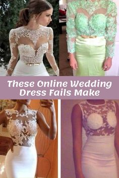 These Online Wedding Dress Fails Make the Case For Always Buying In Person Wedding Dress Fails, Wedding Fail, Wedding Humor, Dolce & Gabbana, Moncler, Prom Dresses, Formal Dresses, Wedding Dresses, Parenting Fail