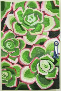 Succulents by Kim Juran, quilted by Rachel Reese.  2014 show, Western North Carolina Quilters' Guild.