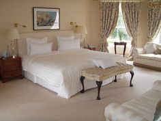 Tankardstown House Hotel Slane, Co. Hotel Bedroom Decor, Blue Books, Maine House, Luxurious Bedrooms, Contemporary Style, Cottage, Luxury, Inspiration, Furniture