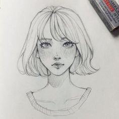 New Drawing Sketches Girl Faces Character Design Ideas Girl Drawing Sketches, Pencil Art Drawings, Cool Drawings, Drawing Tips, Drawing Faces, Drawing Ideas, Illustration Art Drawing, Girl Face Drawing, Drawing Drawing