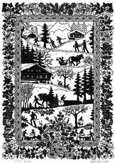 L'hiver arrive Plus Paper Cutting, Kirigami, Books Art, Decoupage, Paper Art, Paper Crafts, Wood Burning Patterns, Cow Art, Jewish Art