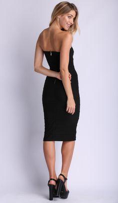 Restraint Bodycon Dress in Black $39.99 http://www.popcherry.com.au/new-arrivals/