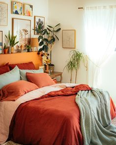 Room Ideas Bedroom, Home Bedroom, Bedroom Apartment, Target Bedroom, Bedroom Colors, Bedrooms, Dream Rooms, Dream Bedroom, Bedroom Orange