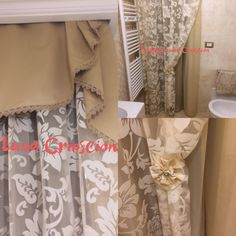 Fiori in trasparenza ❤️️ Curtains, Shower, Bathroom, Prints, Home Decor, Rain Shower Heads, Washroom, Blinds, Bath Room