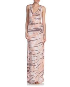 Crisscross-Back Maxi Dress, Peach Creative by Madigan at Last Call by Neiman Marcus.