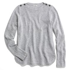 Hit. Bateau Button Sweater from Madewell. Simple. Something Katherine Hepburn would wear on a chilly golf outing.