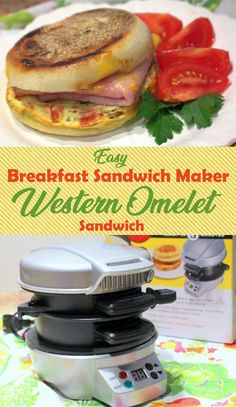Grabbing breakfast on the run couldn't be easier when armed with an electric sandwich maker and a few quick and simple ingredients. Sandwich Maker Recipes, Breakfast Sandwich Maker, Toast Sandwich, Breakfast Recipes, Breakfast Ideas, Mcdonalds, Croissant, Muffins, Fruit Snacks