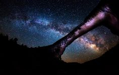 I need to see this! The Galactic bridge - Natural Bridges national monument has one of the darkest night sky in the united States and it is possible see up to 15,000 stars throughout the night. On a moonless night, these stars shine like jewels in the sky. This image shows the The Milky way as seen from Owachomo Bridge.