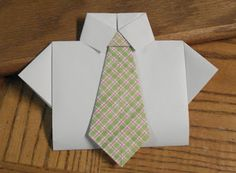 Oragami Shirt & Tie: made this for my Grandpa's birthday. Very simple to make & great step-by-step instructions!