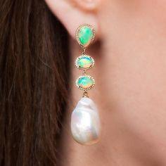 #Best #Resort #Summer #Party #Earring #Opal #Diamond #Pearl #Love #AnneSisteron…