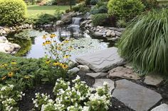 Small Waterfall Pond Landscaping For Backyard Decor Ideas 44 - DecOMG Small Backyard Ponds, Backyard Water Feature, Small Ponds, Garden Ponds, Pond Landscaping, Landscaping With Rocks, Waterfall Landscaping, Garden Pond Design, Landscape Design