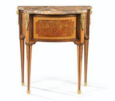 Commode desserte en marqueterie d'époque Louis XVI, estampillée<em> L. MOREAU</em> et <em>JME</em> | lot | Sotheby's