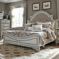 So excited, this beautiful bed is on order!.   Magnolia Manor King Upholstered Bed by Liberty Furniture
