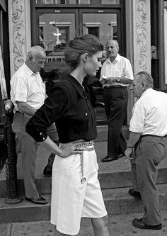 Ferdinando Scianna USA. New York City. 1991. Fashion photograph with Natasha.