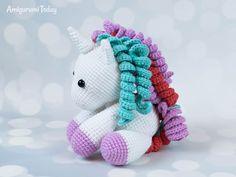 Baby unicorn amigurumi - Pattern designed by Amigurumi Today