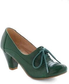 bac331ca562 ModCloth - Right Here Heel in Green - Lyst