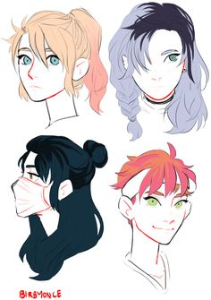 Need to draw at least one of these hairstyles oml