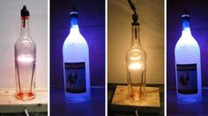 http://lifehacker.com/5866309/create-an-upcycled-glass-bottle-lamp-using-leds-or-a-tungsten-filament        http://www.instructables.com/id/Bottle-Light-Bulb-AKA-Bacardi-Bulb/
