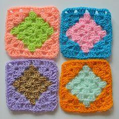 Ollie & Bella | For the love of crochet | DIAMOND GRANNY SQUARE