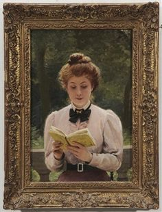 View La Lecture By Louis-Emile Adan; oil on canvas; Access more artwork lots and estimated & realized auction prices on MutualArt. 1890s Fashion, Fashion Portraits, Magazine Art, Art Market, Oil On Canvas, French, Artist, Artwork, Painting
