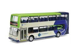 Corgi 1:76 Dennis Trident Diecast Model Bus OM42521A This Dennis Trident East Lancs Diecast Model Bus is Cream and Green and features working wheels and also opening bonnet with engine. It is made by Corgi and is 1:76 scale (approx. 14cm / 5.5in long). Preston Bus can trace its proud history back to the late 19th century and the horse drawn trams of the Preston Tramway Company. Electric trams operated from the company's present headquarters on Deepdale Road from 1904, and the first…