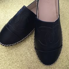 Chanel espadrilles Like new used twice thin sole leather material please read first comment for all your wuestions answers (: CHANEL Shoes Espadrilles