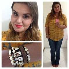 In love with my zebra shirt!! Plus size look!  www.grandesmulheres.com.br