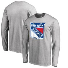 b1bc825c9ff New York Rangers Fanatics Branded Primary Logo Long Sleeve T-Shirt -  Heathered Gray