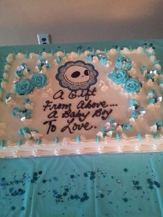 Superb Nightmare Before Christmas Baby Shower Cake