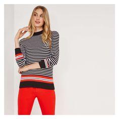 7118508b74a83 Joe Fresh Sporty Stripe Mock Neck Sweater