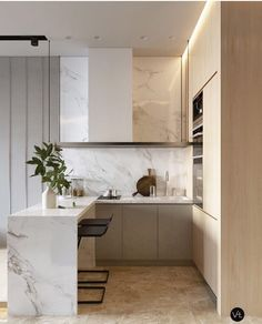 Make you confused choosing a minimalist kitchen design to fill your dream home. Here we share tips & tricks and inspiration minimalist kitchen ideas that suits your style. Studio Apartment Kitchen, Home Decor Kitchen, Interior Design Kitchen, Home Kitchens, Kitchen Ideas, Kitchen Modern, Minimalist Kitchen, Minimalist Style, Minimalist Design
