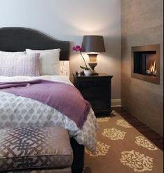 Purple and gray bedroom