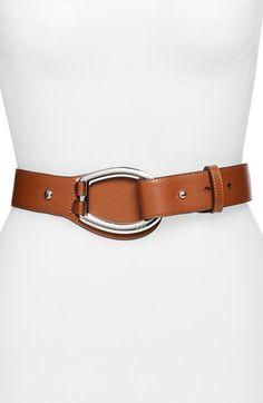 Lauren Ralph Lauren Vachetta Leather D-Ring Belt available at #Nordstrom