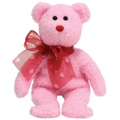 1f90a55a4c3 Look for the familiar heart-shaped tag that means you¿ve purchased an  authentic Ty productTy Beanie Babies My Sweet Pink Bear W heart Ribbon
