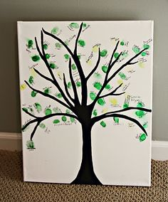 Thumbprint Tree (or something else print should you choose) in lieu of a guest book or whatever.  Ends up with a nice piece to hang in baby's room
