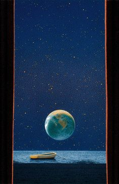 Quint Buchholz Postkarte// Postcard Vollmond