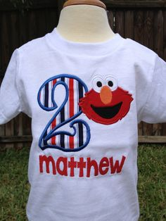 Elmo Birthday Shirt  Personalized Birthday  by OurLilBowtique, $25.00
