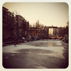 skating on the canals in Amsterdam!
